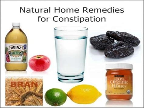 cure constipation with remedies