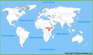 where is uganda on the world map uganda location on the world map