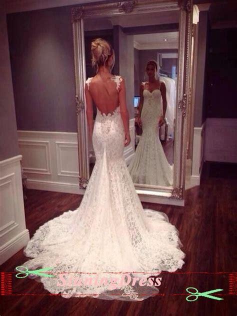 Lace Wedding Dress Open Back Wedding Dress Boho Wedding