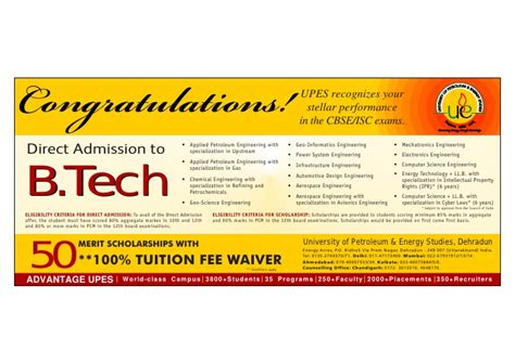 Upes Mba Placements Packages by Direct Admission To B Tech Upes
