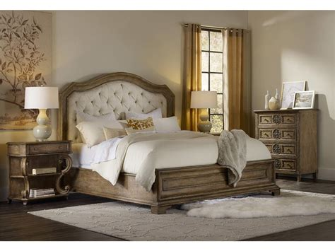 upholstered bedroom furniture hooker furniture bedroom solana king upholstered panel bed