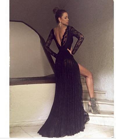 Black Split Longdress W8180usi D the 25 best black lace dress ideas on
