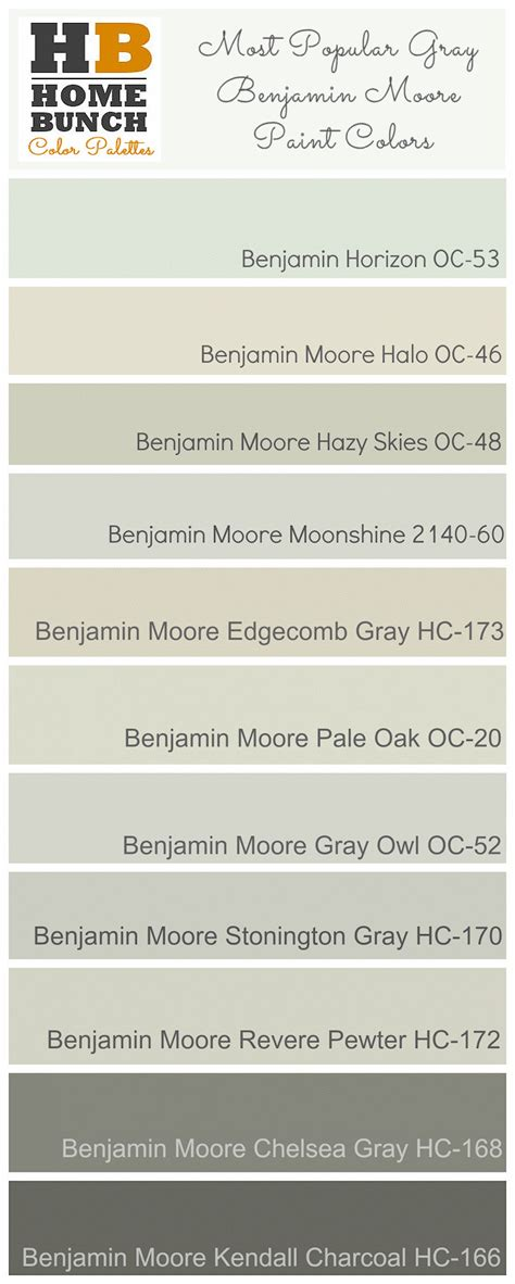 best grey color gray color schemes benjamin moore