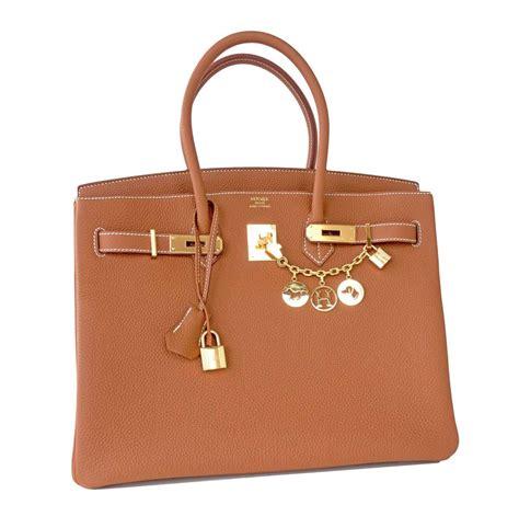 Classic Bag Hermes Birkin by Hermes Birkin Bag 35cm Gold Camel Togo Gold Hardware