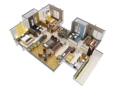 3 bedroom plan 3 bedroom apartment house plans