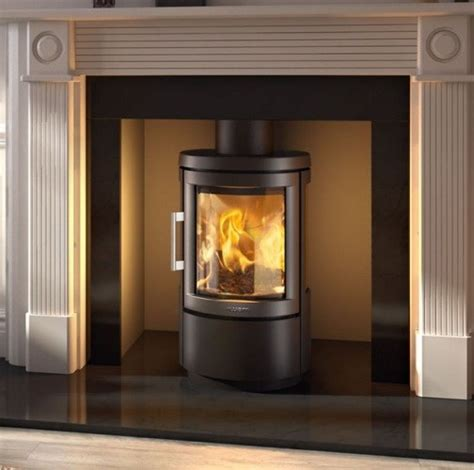 Hwam 2610 With Glass Door In Black Glass Door For Wood Stove