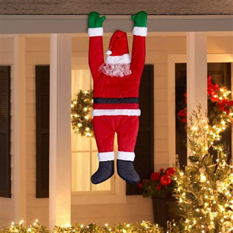 fun outdoor christmas house decorations hanging santa outdoor decoration balcony decor yard what s it worth