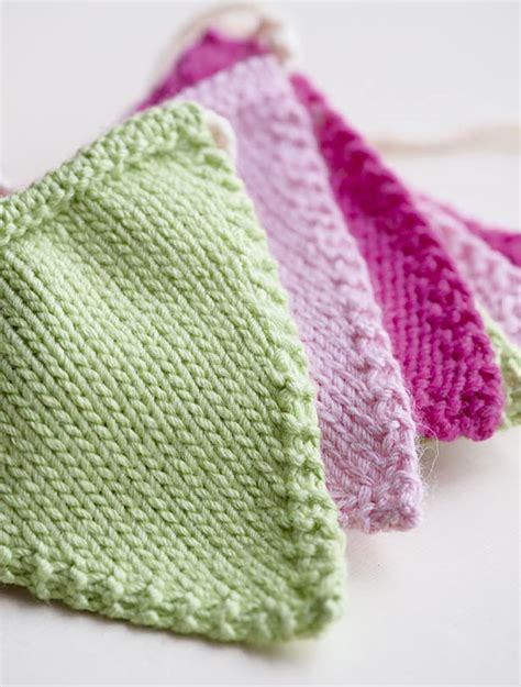 knitting abbreviations m1 knitted bunting pattern goodtoknow