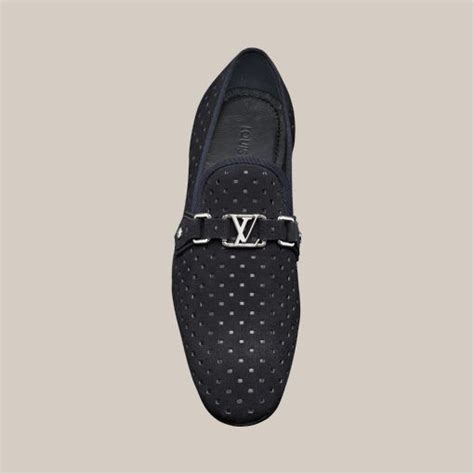 Sepatu Loafers Louis Vuitton Emboss mulholland loafer in perforated suede calf louis vuitton