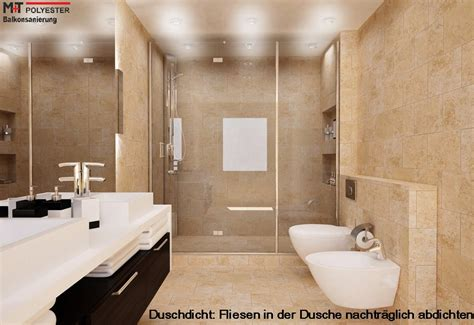 fliesenfugen wasserdicht machen in der dusche fliesen abdichten nachtr 228 glich dusche m t