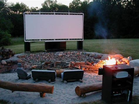 7 easy tips for backyard movie theater home design and