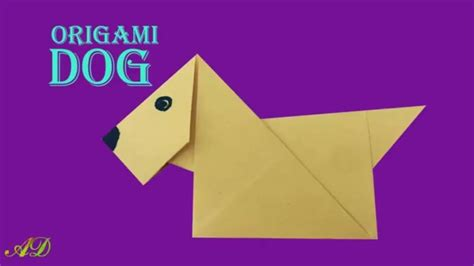 how to make a paper dog house how to make easy origami paper dog step by step tutorial for beginner my crafts