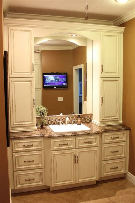 Bathroom Vanity With Linen Cabinet Bathroom Vanity With Matching Linen Cabinet