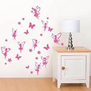 Small Wall Stickers Fairies With Butterflies And Flowers Small Wall Sticker