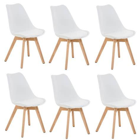 chaises lot de 6 lot de 6 chaises de salle 224 manger scandinave simili cuir
