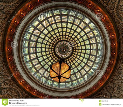 Glass Dome Ceiling by Stained Glass Window Ceiling Dome Royalty Free Stock