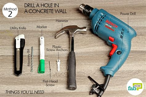 anchor to concrete walls without drilling how to drill a through wall fab how