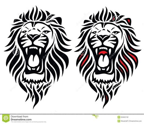 roaring lion tribal tattoo 40 tribal tattoos