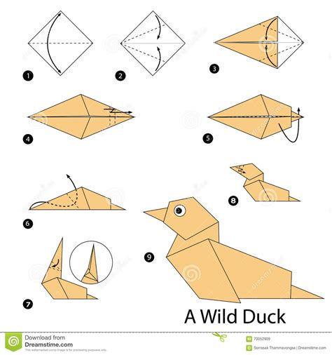 How To Make Duck From Paper - origami duck www pixshark images