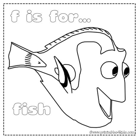 F Fish Coloring Page by F Is For Fish Coloring Page Printables For Free