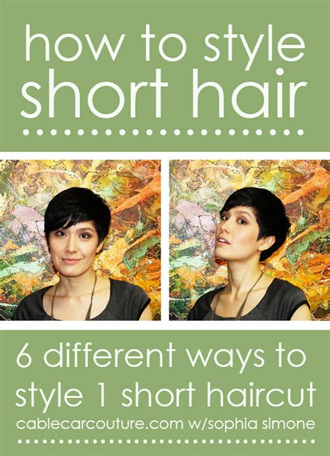 how to style short hair transsexuals 10 fabulous hair tutorials for short hair