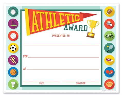 sports award templates athletic certificates driverlayer search engine