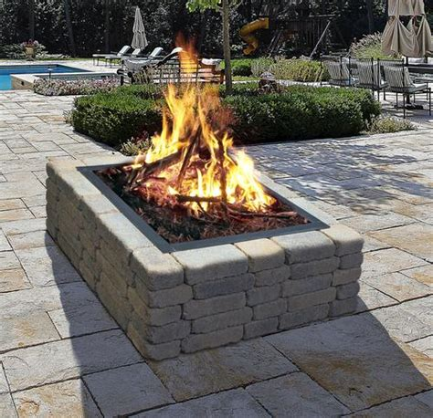 backyard creations fire pit backyard creations 36 quot square fire ring at menards 174
