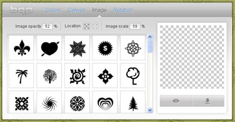 Web Pattern Maker | five online graphic makers to create simple design