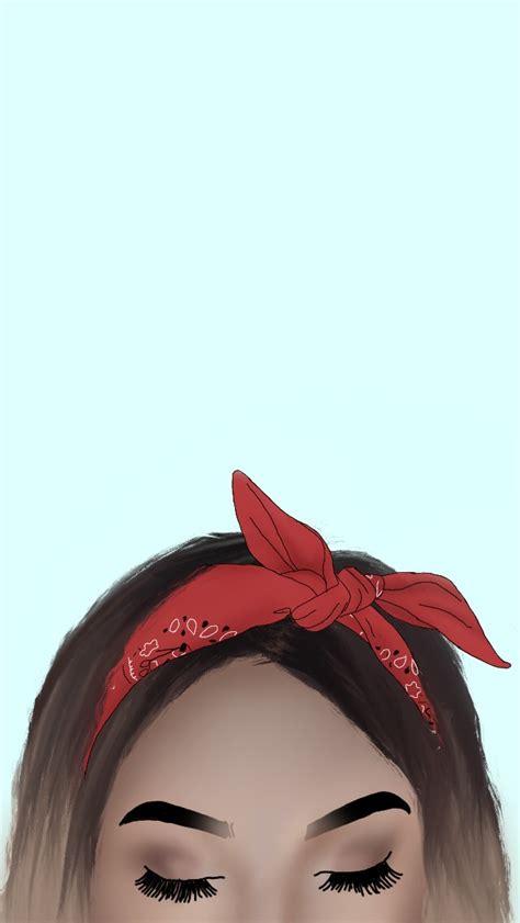 freetoedit drawing draw girl bandana