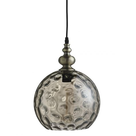 Vintage Pendant Light Searchlight 2020am Indiana Globe Ceiling Pendant Light Antique Brass Dimpled Glass Shade