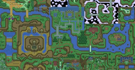 legend of zelda rom map forty two the legend of zelda parallel worlds maps