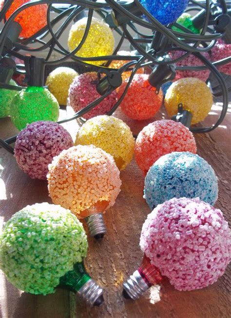 vinyage snowball lights 1 strand vintage lighted lights 13 bulbs frosted snowball