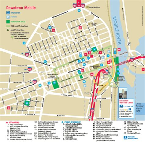 maps for mobile mobile alabama tourist map mobile alabama mappery