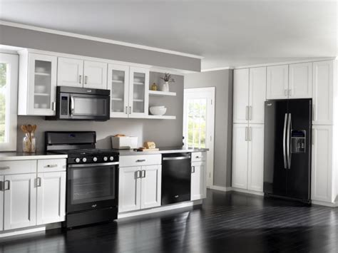 kitchen white cabinets black appliances white kitchens with black appliances info home and