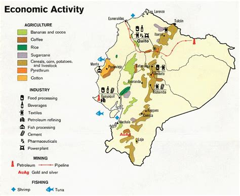 economic map of texas nationmaster maps of ecuador 8 in total