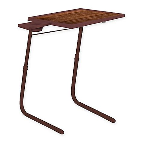 table mate adjustable table table mate 174 adjustable table in wood grain bed bath beyond