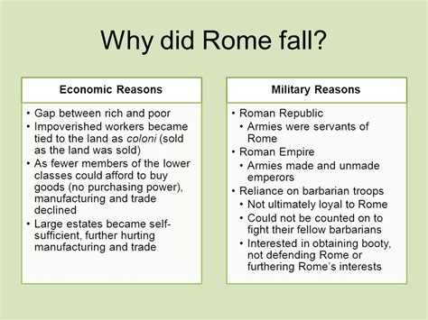 the rise and fall of the empire ppt