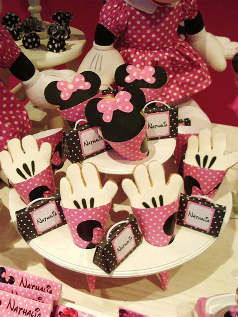 minnie mouse birthday pink minnie mouse themed birthday dessert table disney every day
