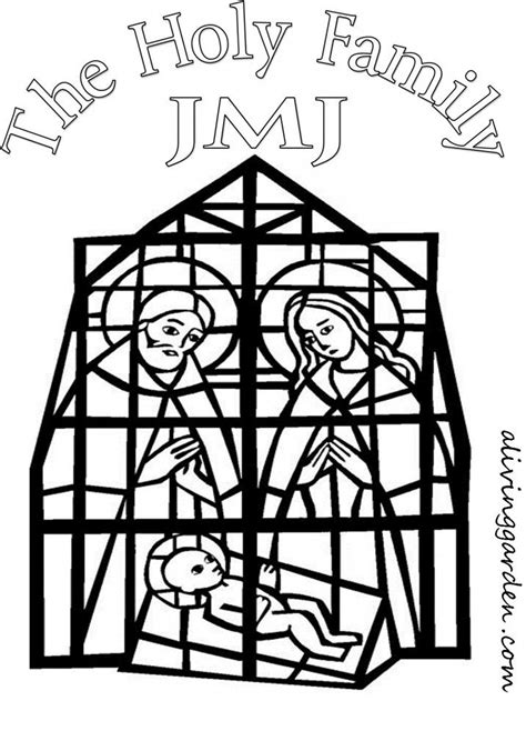 coloring page holy family holy family coloring page pray learn advent christmas