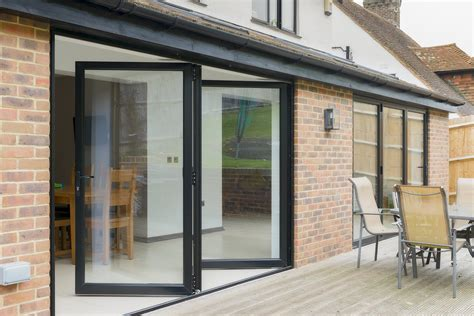 Bi Fold Patio Doors Aluminum Anthracite Grey Bifold Doors