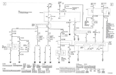 mitsubishi galant headlight wiring diagram wiring