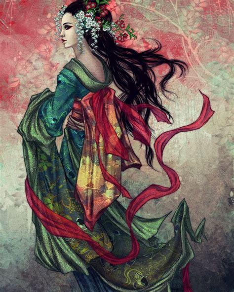 geisha tattoo inspiration seductive geisha digital art inspiration nenuno creative