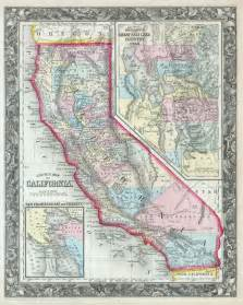 file 1860 mitchell s map of california geographicus ca