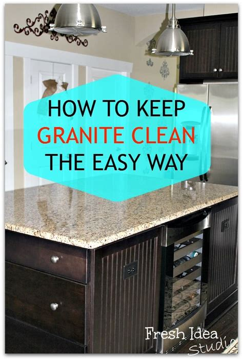 Cleaning Granite Countertops by Best 25 Clean Granite Ideas On Cleaning
