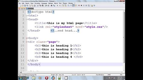 html css tutorial part 2 div and class selector