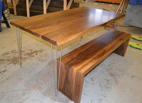 walnut dining bench walnut dining table matching waterfall bench by wicked