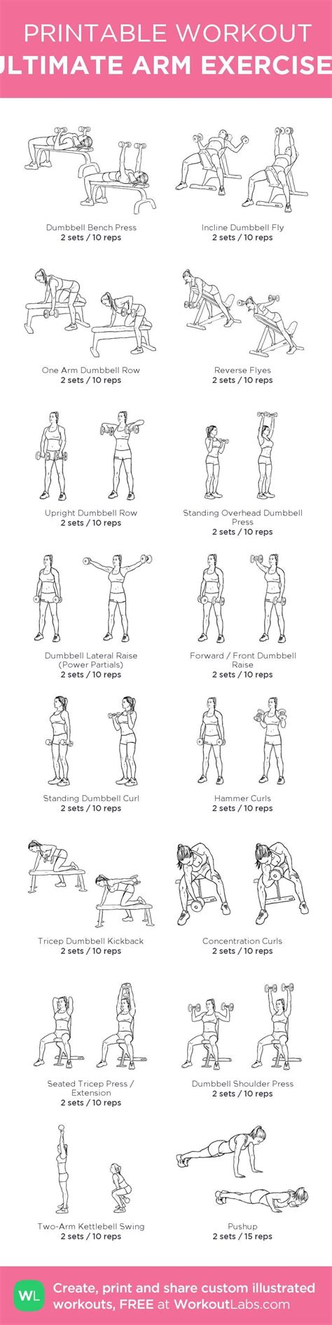 printable workout to customize and print ultimate at home ultimate arm exercises my custom printable workout by