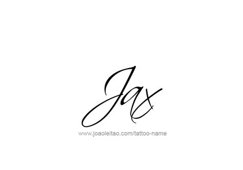 jax name tattoo designs