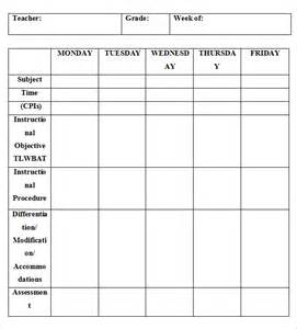 weekly lesson plan template word doc 580528 weekly lesson plan template word document