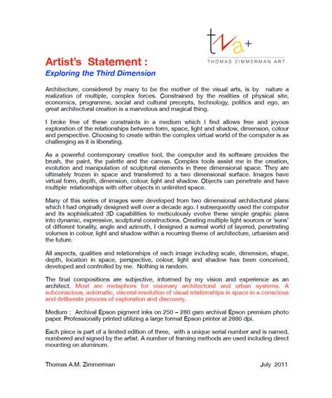 artist biography vs statement artist s statement zimmerman art